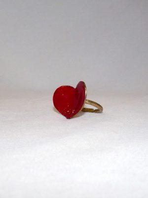 Δαχτυλίδι καρδιά με σμάλτο