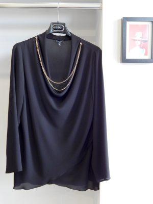 Μπλούζα μουσελίνα με ντραπάρισμα