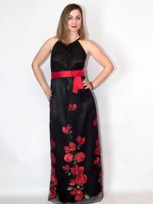 Φόρεμα μάξι με λουλούδια