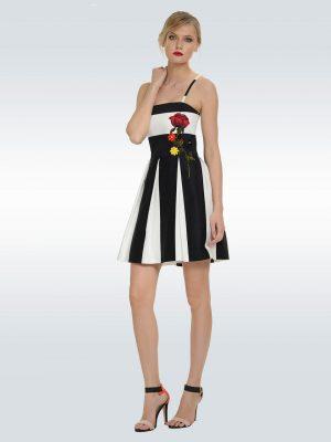 Φόρεμα ασπρόμαυρο ριγέ