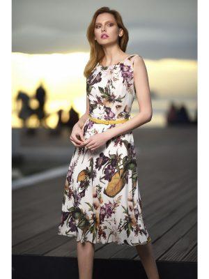 Φόρεμα φλοράλ μουσελίνα