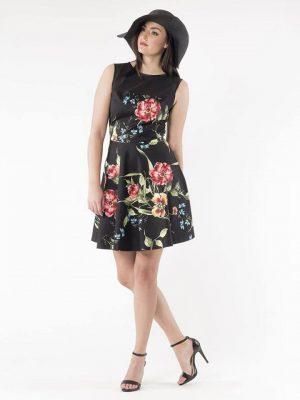 Φόρεμα πλεκτό εμπριμέ