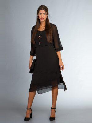 Φόρεμα με διαφάνειες στο πάνω και κάτω μέρος