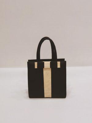 Τσάντα Χειρός Μαύρη-Μπεζ