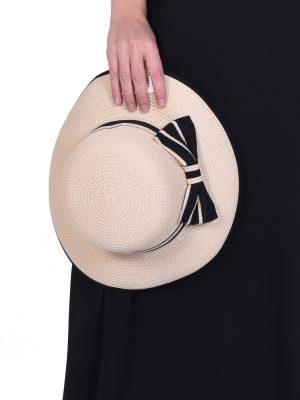 Καπέλο με Μαύρο Φιόγκο