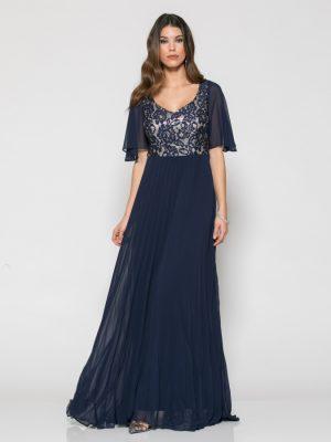Φόρεμα Μάξι με Μπλε Δαντέλα