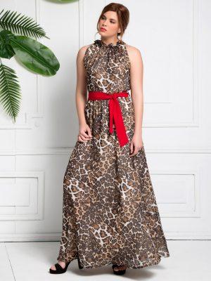 Φόρεμα Λεοπάρ Μάξι