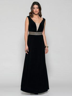Φόρεμα Μάξι με V