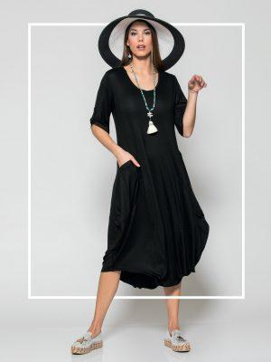 Φόρεμα Χυτό Κοντομάνικο