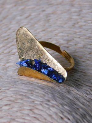 Δαχτυλίδι με Διπλωμένο Φύλλο