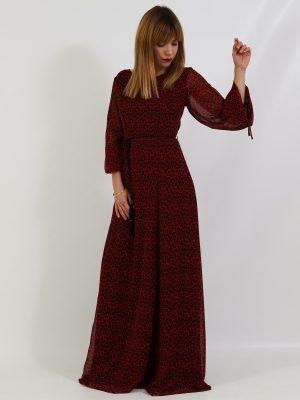 Φόρεμα Λεοπάρ Κόκκινο