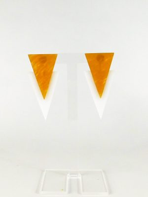 Σκουλαρίκια Plexiglass Λευκό Μπεζ