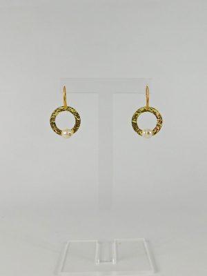 Σκουλαρίκια με Σφυρήλατο Κύκλο