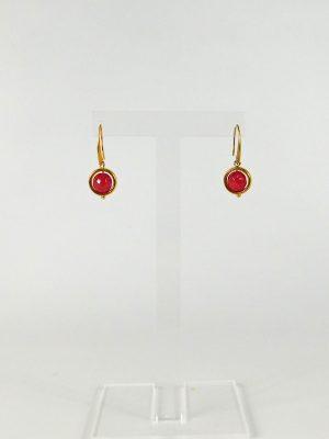 Σκουλαρίκια με Φουξ Χάντρα