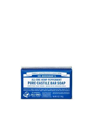 DR. BRONNER'S PURE-CASTILE BAR SOAP PEPPERMINT 140G