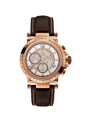 GUESS GC COLLECTION ΑΝΔΡΙΚΟ ΔΕΡΜΑΤΙΝΟ ΚΑΦΕ ΡΟΛΟΙ X44001G1