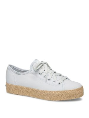 KEDS TRIPLE KICK CANVAS JUTE SNEAKERS ΑΝΟΙΧΤΑ ΜΠΛΕ